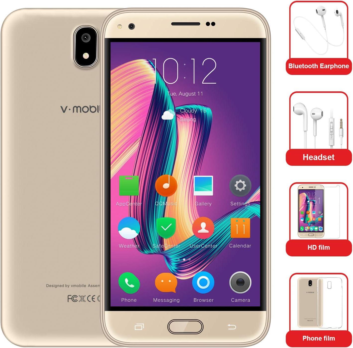 Moviles Libres Baratos 10Pcs v·mobile J5 Telefono 4G Android 7.0 ...
