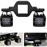 """AKD Part 3"""" Tow Hitch Bracket Mounting Kit Universal Tube Clamps for Dual LED Backup Reverse Lights Rear Search LED Pods LED Work Light Off Road Lighting Backup Lamps for Trailer Truck SUV RV"""