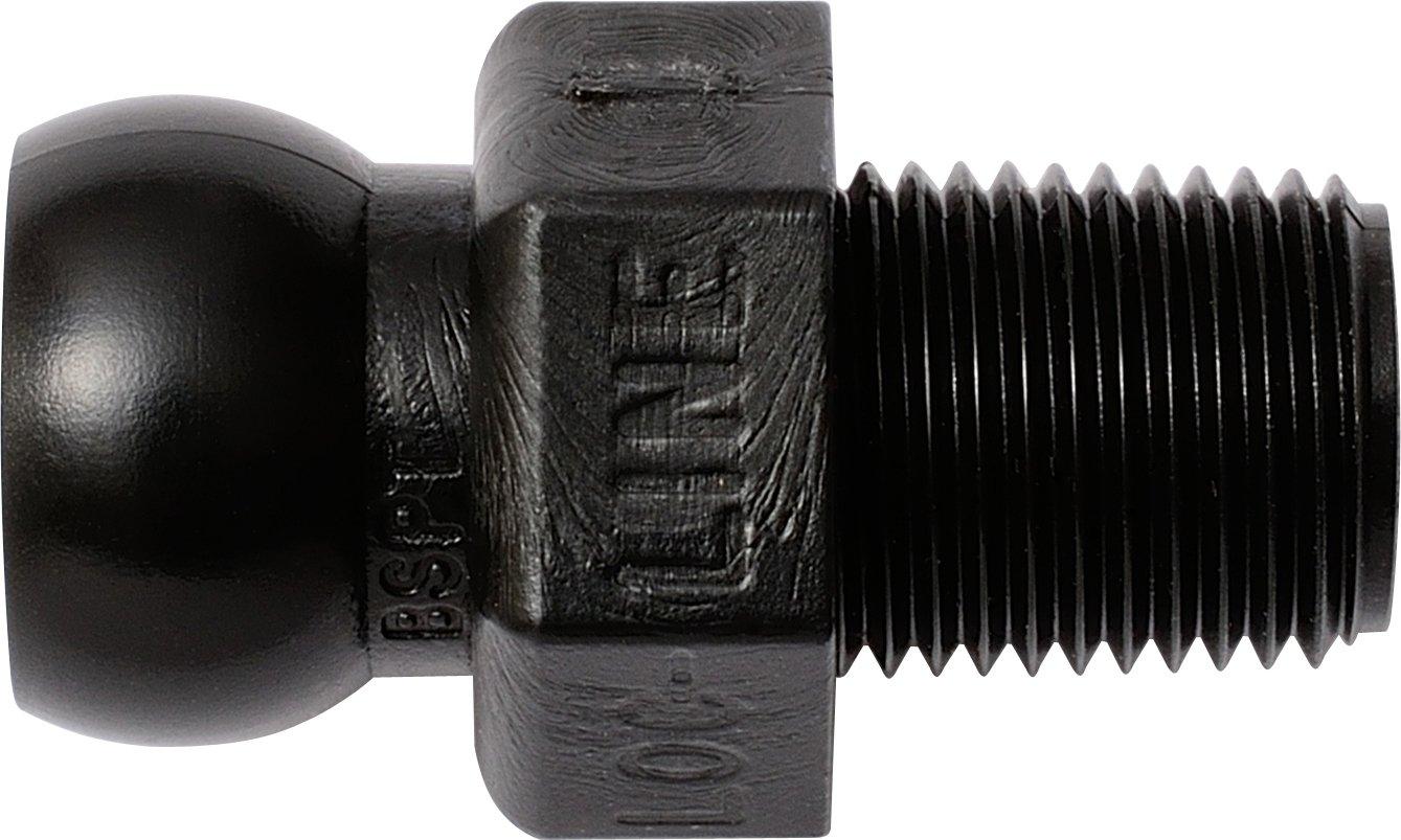 Connector Pack of 50 1//4 BSPT 1//4 Hose ID Black Acetal Copolymer Loc-Line Coolant Hose Component