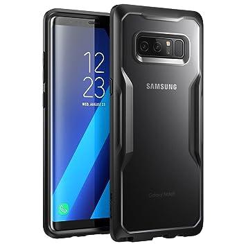 SupCase Carcasa para Samsung Galaxy Note 8 (2017), Funda Cubierta Protectora Unicorn Beetle Serie Premium Hybrid (Semitransparente/Negro)