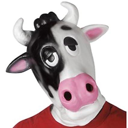 EL CARNAVAL Careta de Vaca Goma para Adulto - Máscaras Divertidas