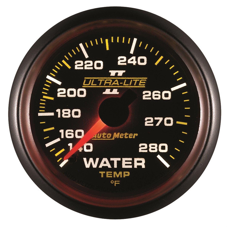 Auto Meter 4931 Ultra-Lite II 2-1//16 140-280 Degree F Mechanical Water Temperature Gauge