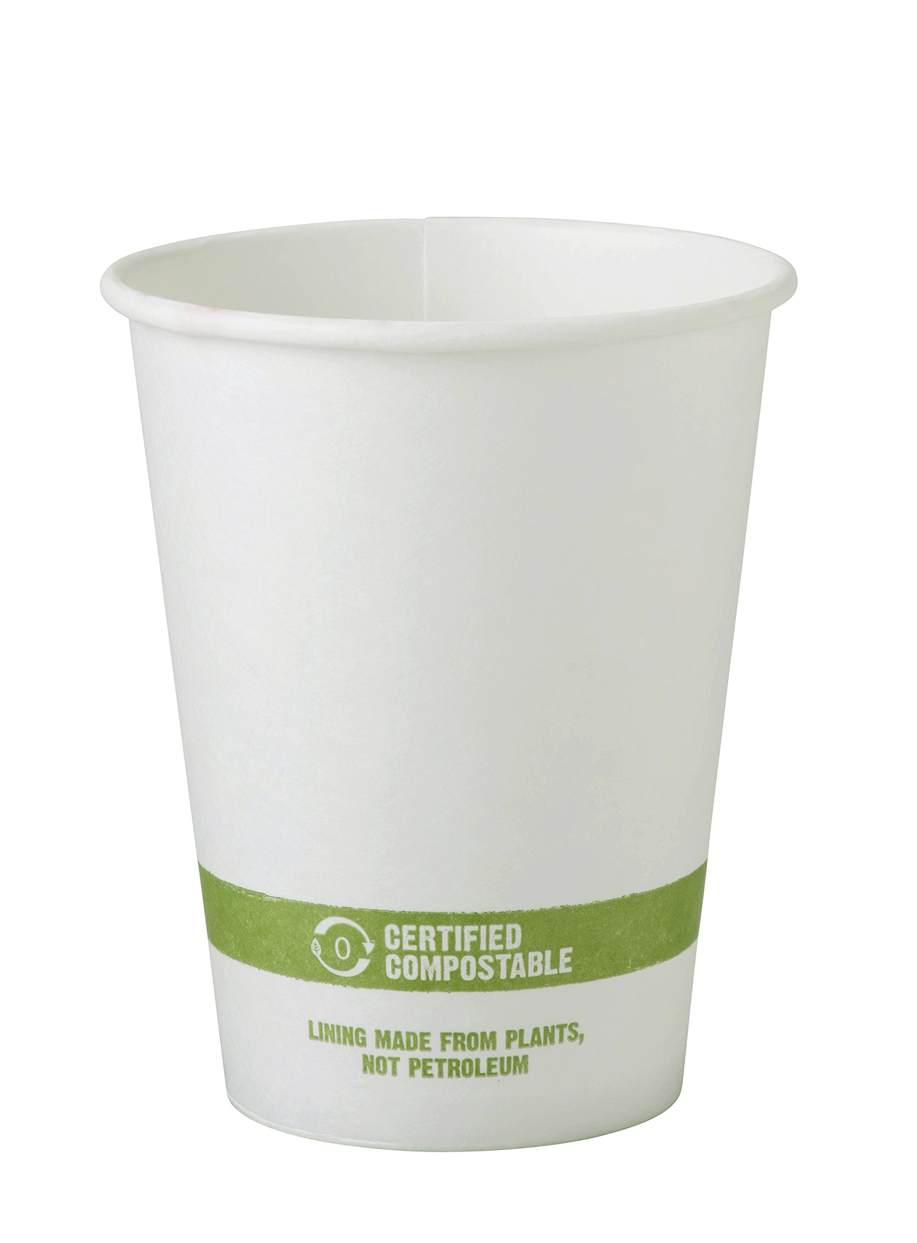 World Centric 100% Compostable Paper Cups by World Centric, Made from FSC Certfied Paper, Plant Based Bio Lining, for Hot Drinks, White, 12 oz (Pack of 1000) by World Centric