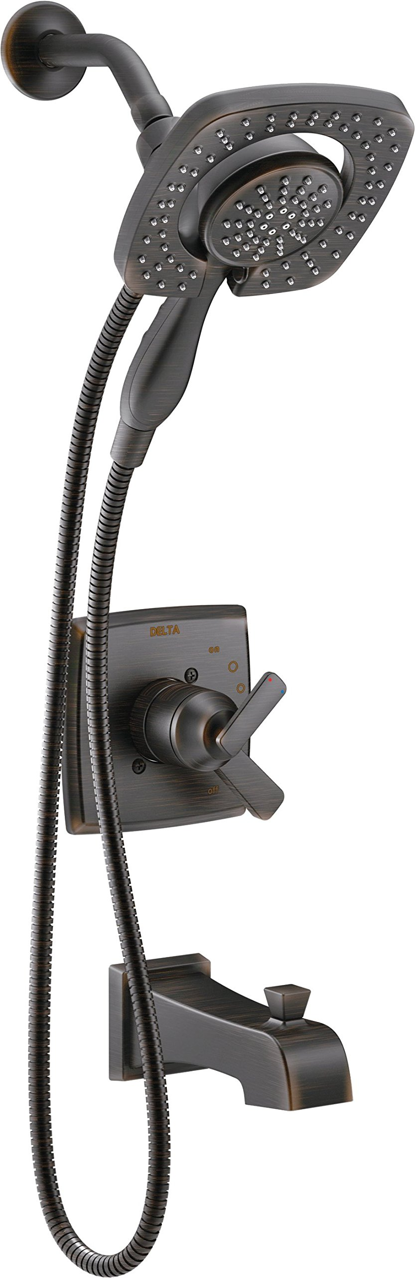 Delta T17464-RB-I Ashlyn Monitor 17 Series Tub & Shower Trim with In2ition Two-in-One Handshower Showerhead, Venetian Bronze by DELTA FAUCET