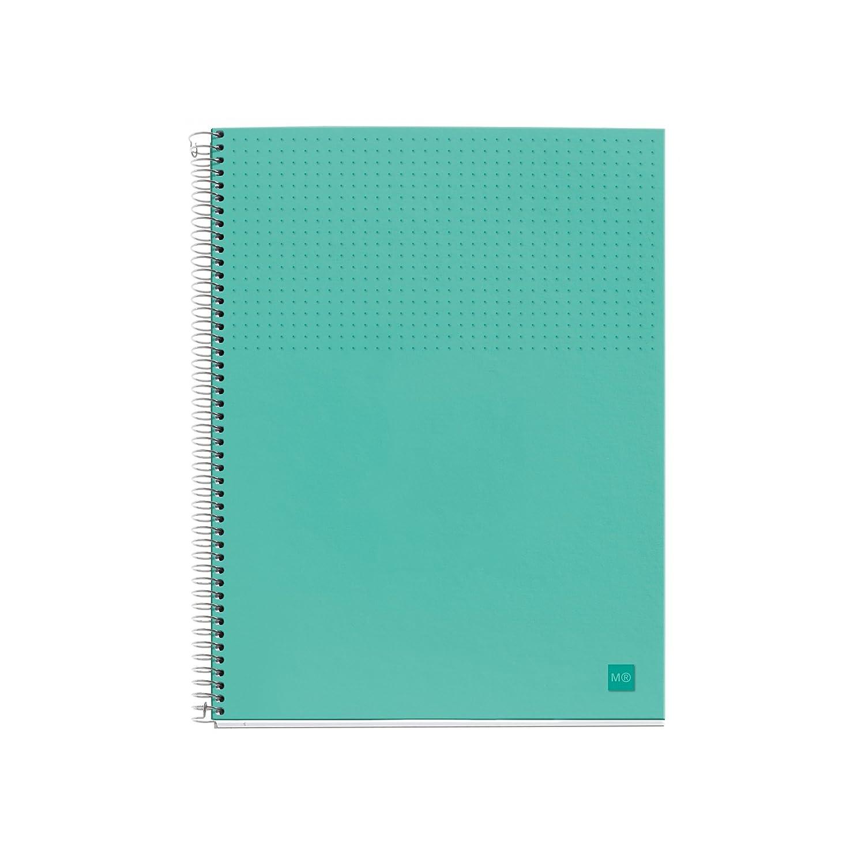 DIN A4: 210 x 297 mm, 80 hojas, 90 g//m/², cuadr/ícula Miquelrius 46613 Notebook 1 polipropileno nordic m color marino