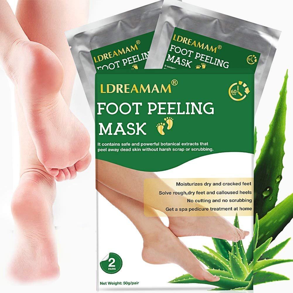 Foot Peel Mask,Exfoliating Foot Mask,Peeling away Calluses and Dead Skin Remover,Repair Rough Heels,Make Your Feet Baby Soft,Natural Aloe Extract-2 Pack by LDREAMAM (Image #8)