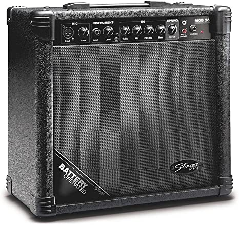 Stagg MOB20 UK - Amplificador para guitarra acústica con pilas ...