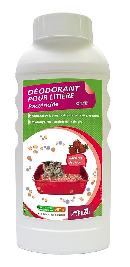 PILOU Desodorante para Arena de Gato (Aroma de Perfume Fresa para Gato