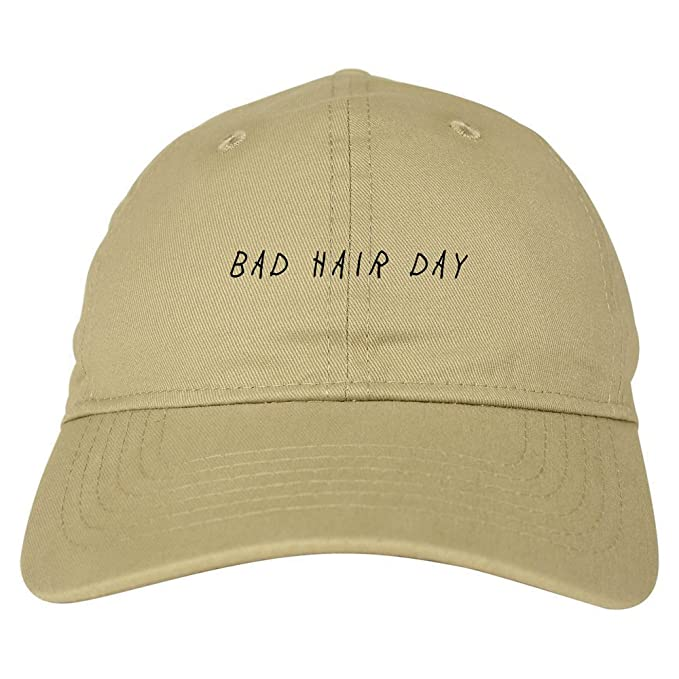 ce41f77a Bad Hair Day Dad Hat Baseball Cap Beige at Amazon Men's Clothing store: