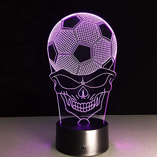 3D Lámpara óptico Illusions Luz Nocturna,3W LED Lámpara de ...