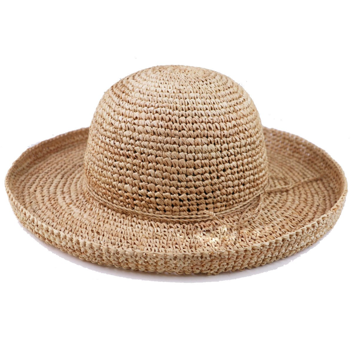 Rafi Grass Weaving Hats Spring And Summer New Handmade Knitted Hat Women Hat Large Curling Straw Hat 1-OneSize SJDT