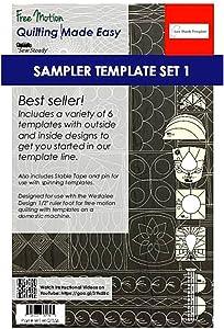 Sew Steady Quilting Template 6 Piece Template Set (High Shank)