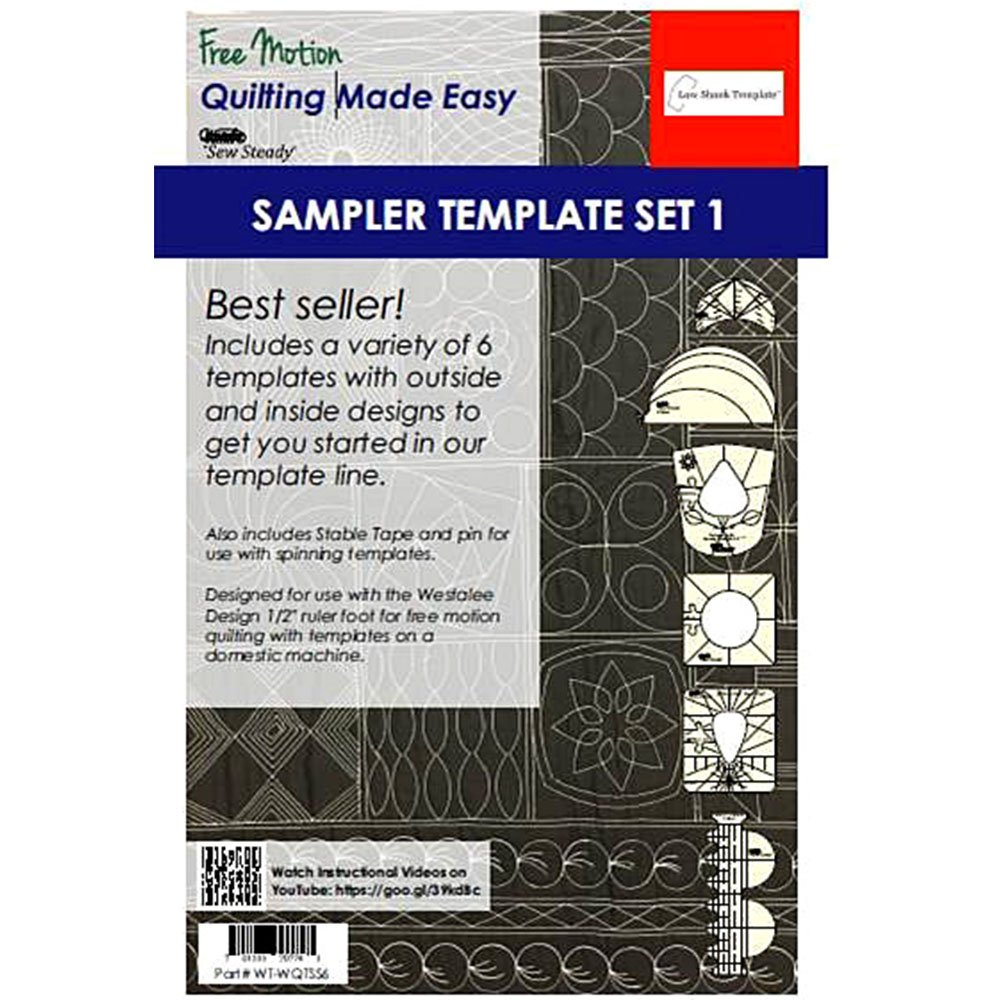 Sew Steady Quilting Template 6 Piece Template Set (Low & Medium Shank) by sewsteady