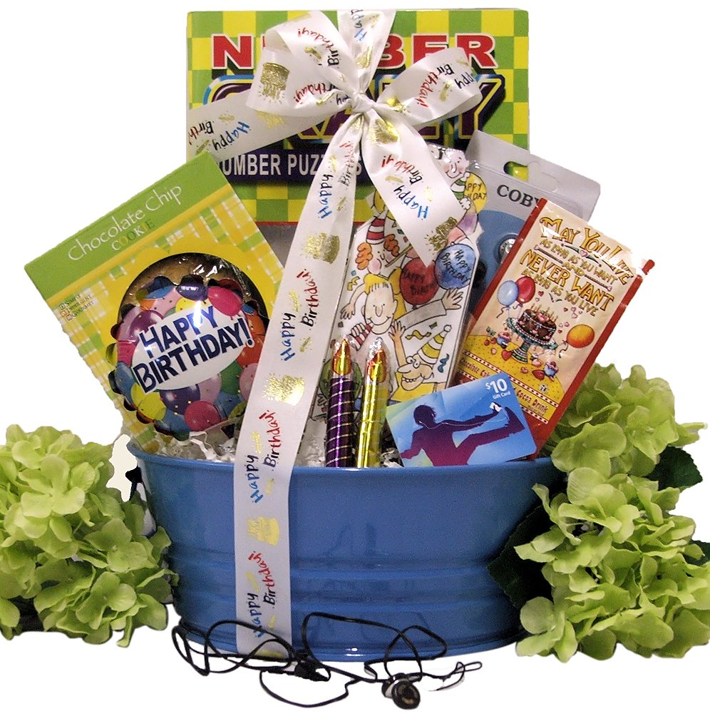 Amazon Great Arrivals Kids Birthday Gift Basket For Boys Ages 9 To 12 Tunes Gourmet Snacks And Hors Doeuvres Gifts Grocery