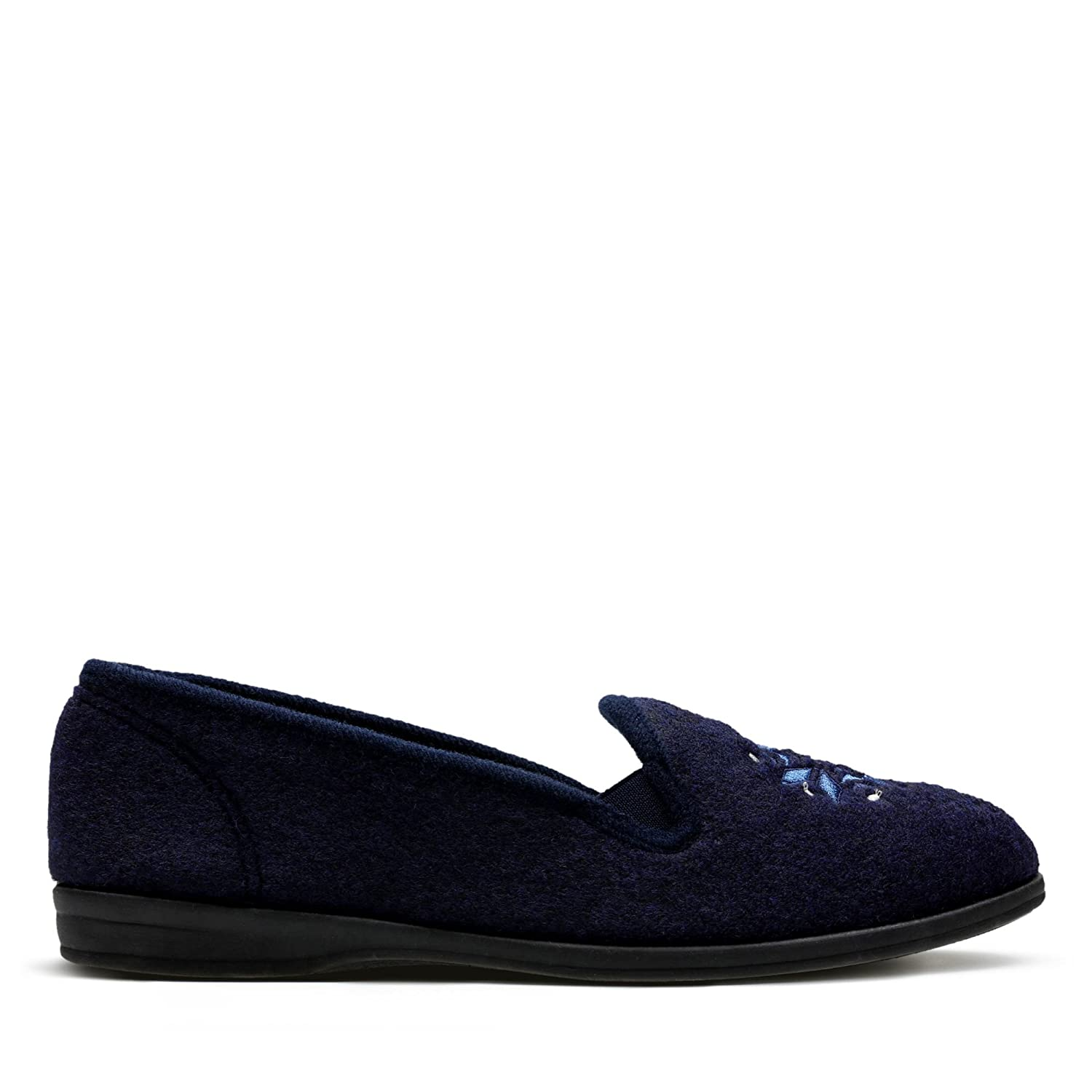 ba2666ab09d Clarks Marsha Rose Textile Slippers in Navy  Amazon.co.uk  Shoes   Bags