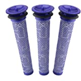 3 Pack Pre Filters for Dyson DC58, DC59, V6, V7, V8. Replacements Part # 965661-01. 3 Filters Kit for Dyson Filter…