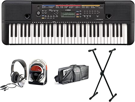 Yamaha 263 Keyboard Set II con soporte, cascos y funda ...