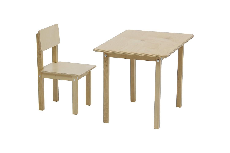 3050 Polini Kids Kindersitzgruppe Simple 105 natur aus Naturholz