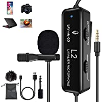 FULAIM Lavalier Microphone with Noise Reduction for iPhone, Camera, PC, Android, Camcorder, Professional Omnidirectional…