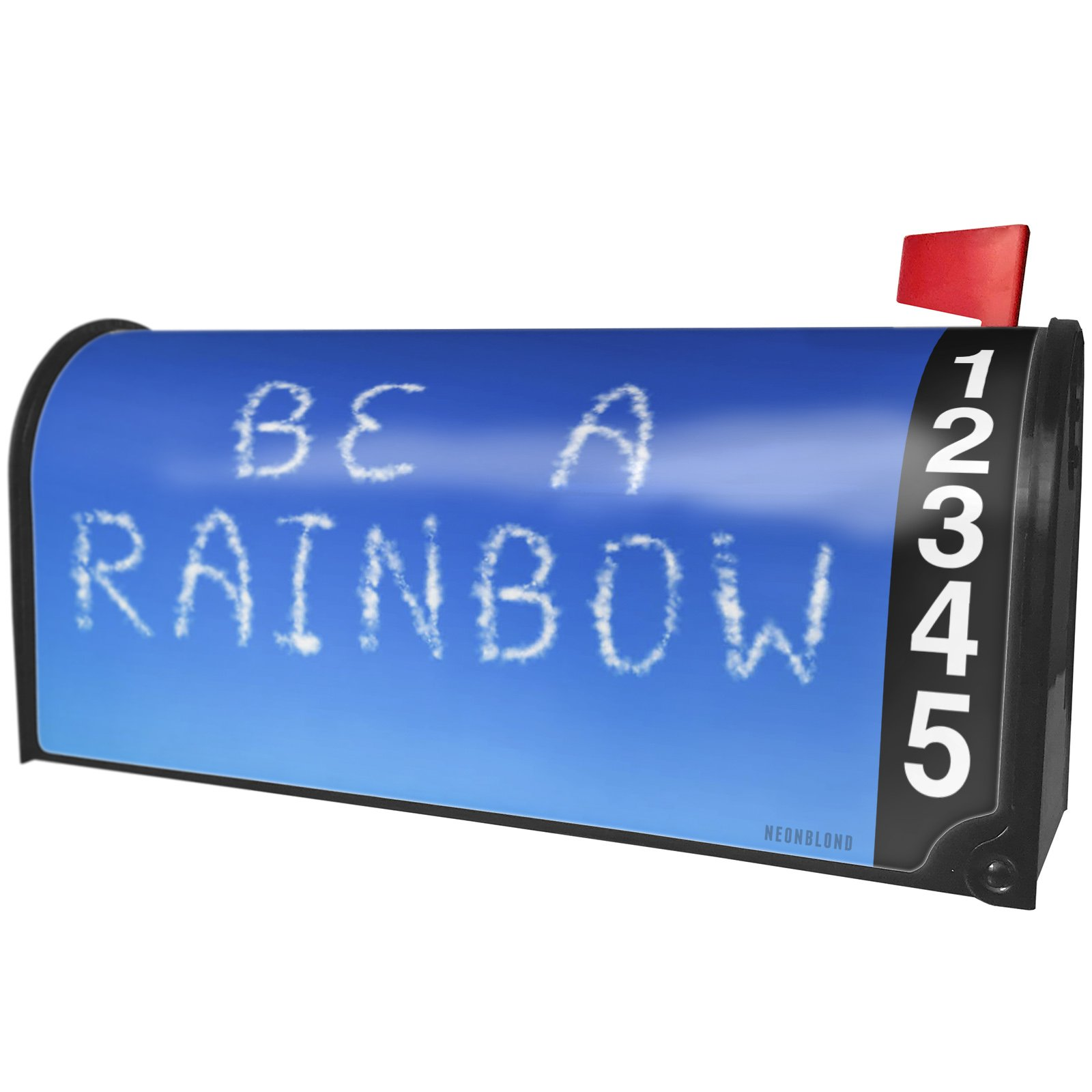 NEONBLOND Be A Rainbow Clouds Fresh Air Magnetic Mailbox Cover Custom Numbers