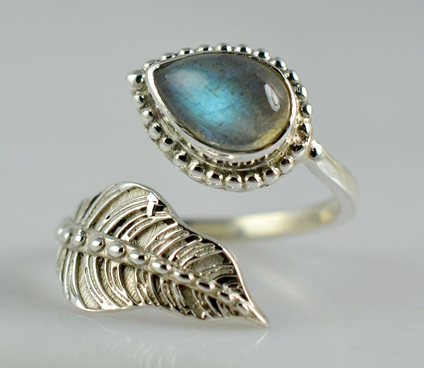 Labradorit Silber Ring 925 Sterling Silber Handgemachter Schmuck Größe 14 bis 22