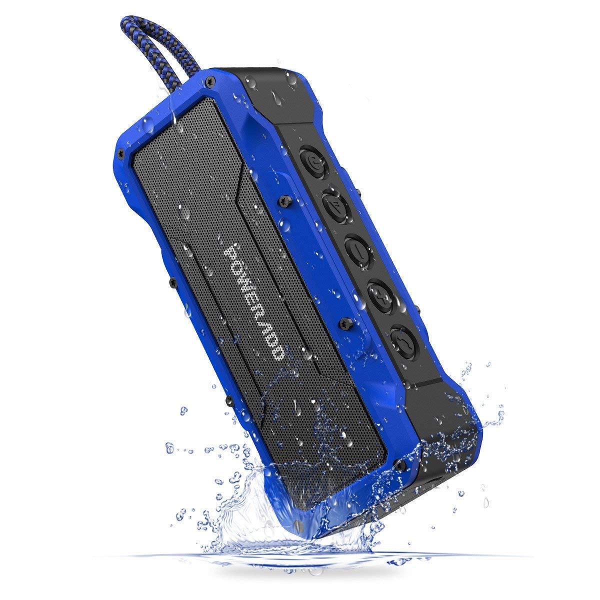 Poweradd MusicFly II + Indoor/Outdoor Portable Bluetooth/Wireless Speakers with 36Watt Loud Volume,Super Big Sound, IPX7 Waterproof, for Pool Beach Party, Blue