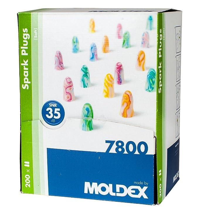 bujías de Moldex ® luz extra extra suave Tapones De Espuma - SNR 35db (100 Pares): Amazon.es: Bricolaje y herramientas