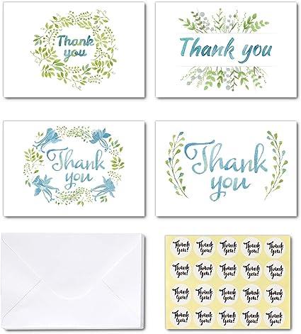 Amazon.com: Ohuhu - 36 tarjetas de agradecimiento de papel ...
