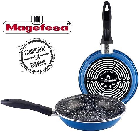 Juego sartenes Induccion Magefesa Black Vitrinor-Magefesa Acero esmaltado vitrificado (2 sartenes 20cm y 24cm + Espátula Especial Antiadherente Valira): Amazon.es: Hogar