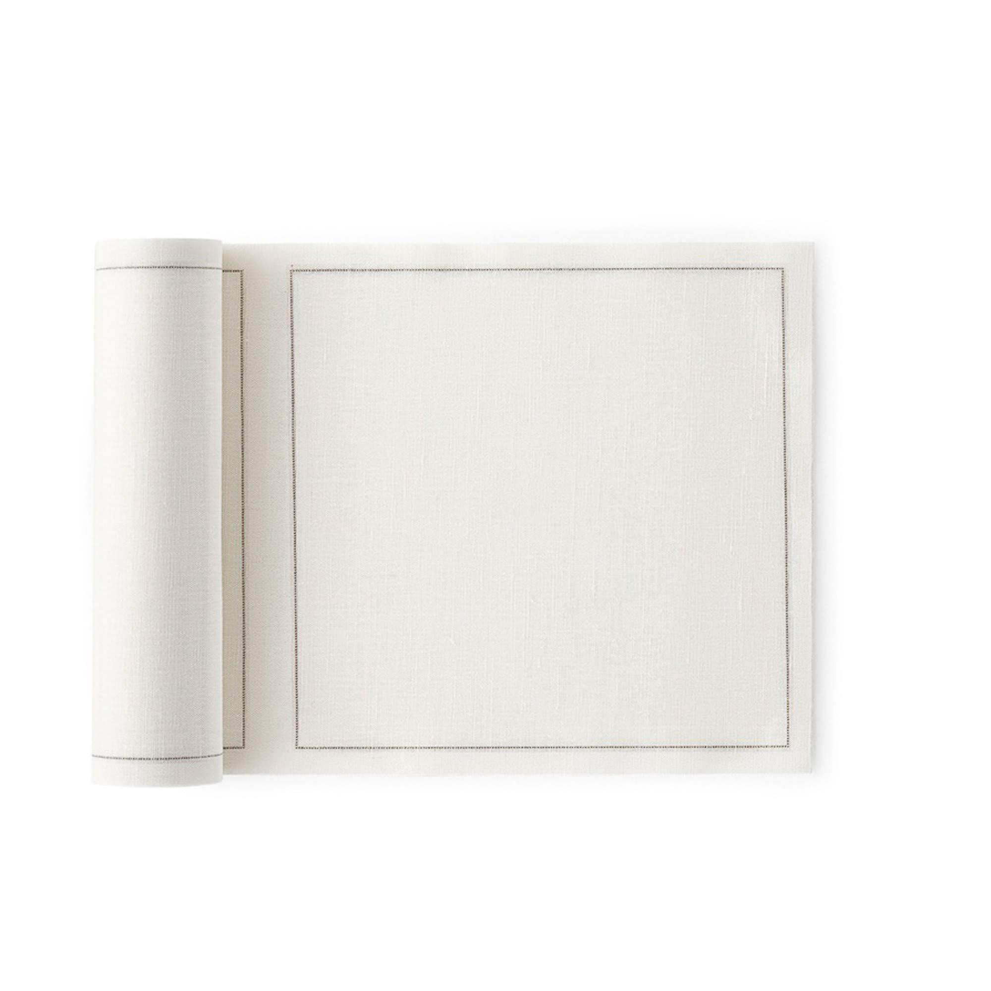 MY DRAP Basics Linen Luncheon Napkin, Cream, 7.9 x 7.9 inch, 40 Napkins by MY DRAP