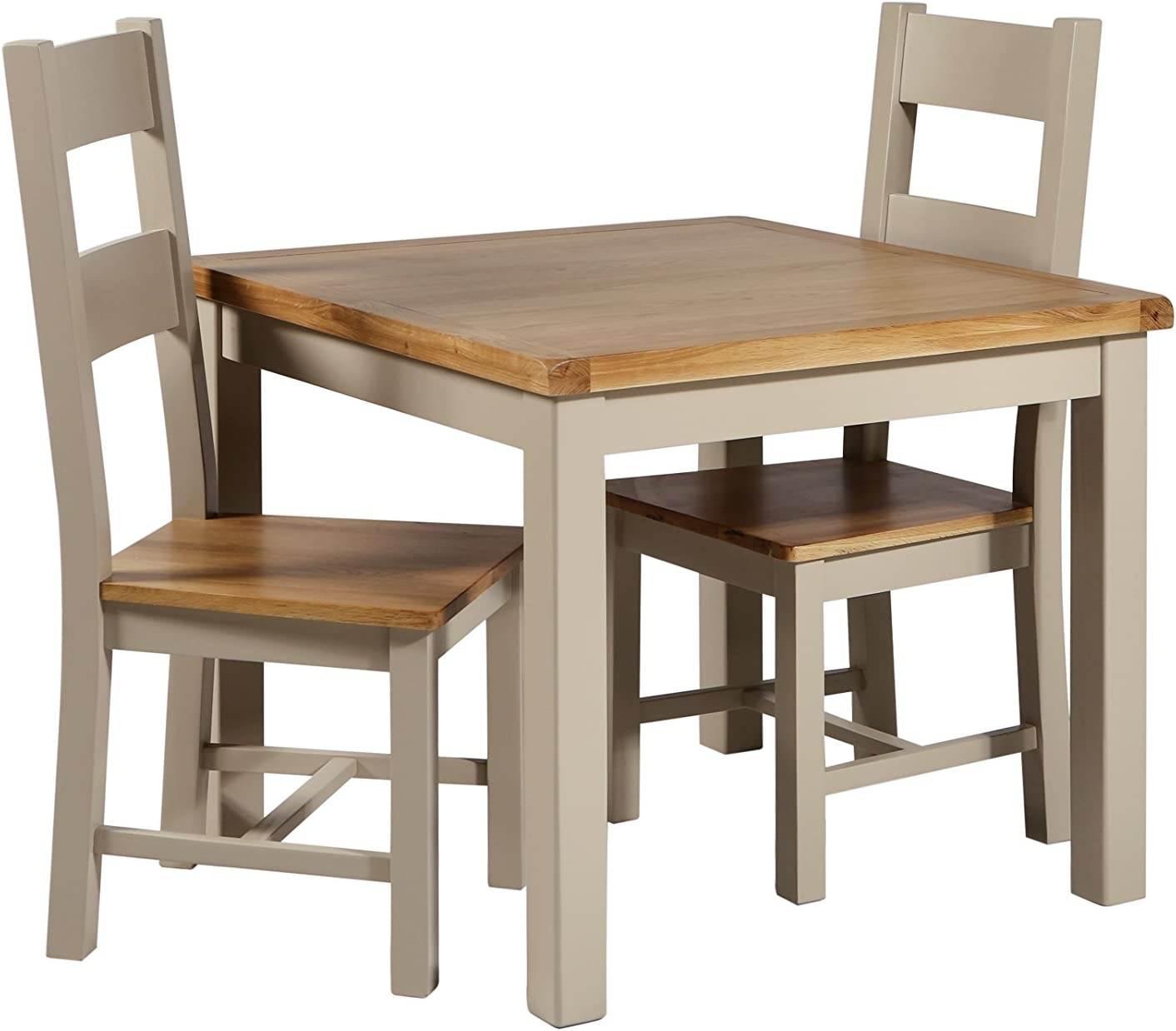 Melbourne Living Truffle Oak Dining Table Painted Oak Dining Room Table Traditional Solid Oak Furniture Amazon Co Uk Kitchen Home