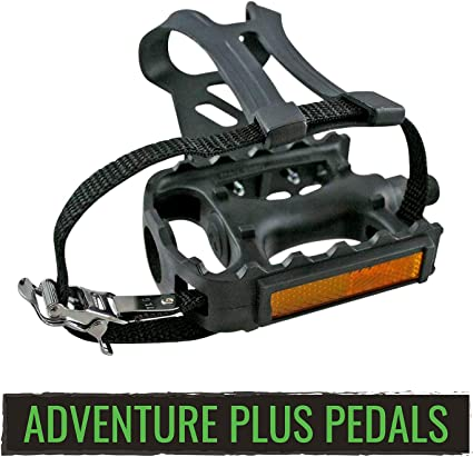 Mountain Cycling Road Bike Fine Bicycle Toe Clips With Straps Black Fixing Belt