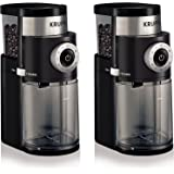 KRUPS GX5000 Professional Electric Coffee xVtxhN Burr Grinder with Grind Size and Cup Selection, 7-Ounce, Black, Burr Grinder (Pack of 2)