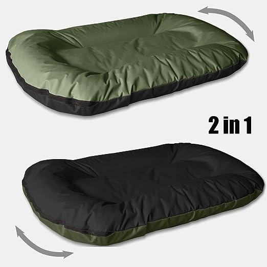 BedDog MASTI 2en1 verde/negro XXXL aprox. 120x105cm colchón para ...