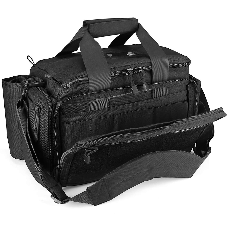 ProCase Tactical Gun Range Bag Pistol Shooting Duffle Bag, Deluxe Padded Shooting Range Bag Large Handguns Magazine Ammo Gear Accessories Pouch for Hunting Shooting Range Sport by ProCase