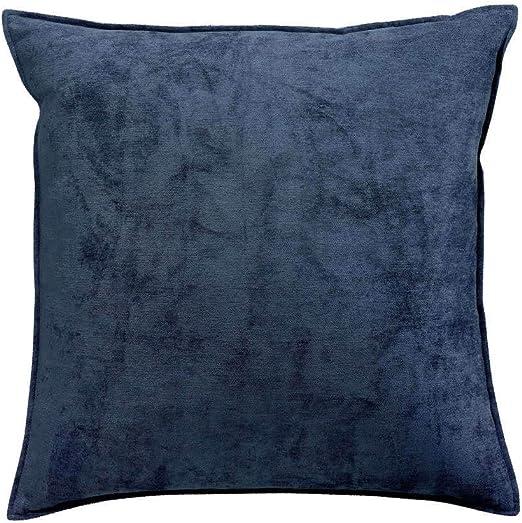 Winkler ~ Cojín de Terciopelo de Terciopelo en algodón Liso y algodón Azul Tinta 60x60: Amazon.es: Hogar