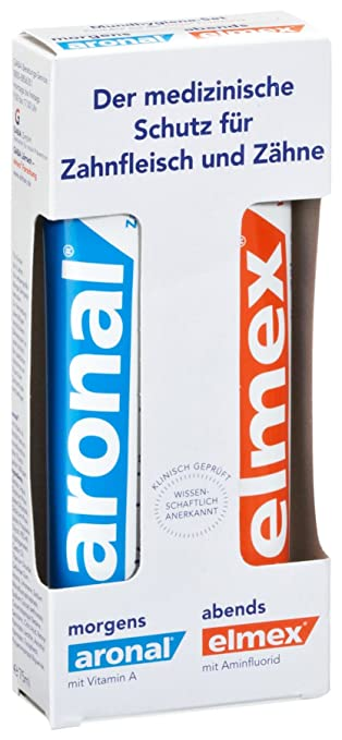 Aronal/Elmex Mundhygiene Set, 150 ml, 2er Pack (2 x 150 ml): Amazon ...