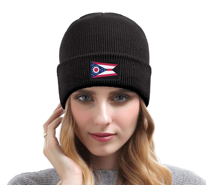 gigiring Ohio Flag Winter Cuff Beanie Hat Skull Cap for Men Women