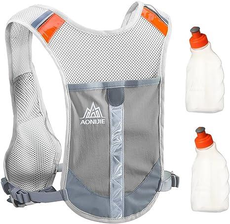 Hydration Vest Trail Marathoner Running Race Hiking Rucksack with 2 Water Bottles Geila Hydration Pack Backpack