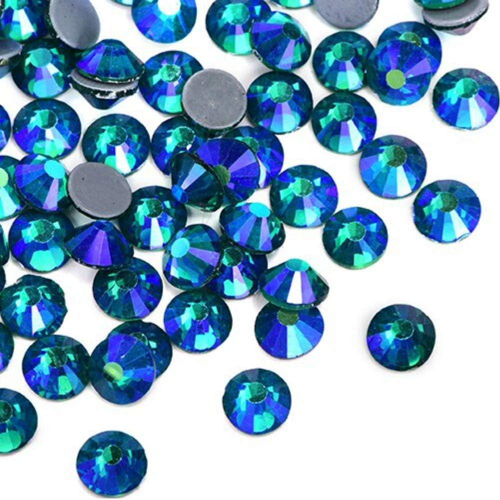 BrillaBenny 1400 cristales termoadhesivos Emerald AB boreal verde esmeralda Hotfix Crystal patinaje vestido body (SS16/4 mm)
