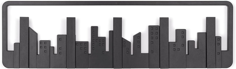 Umbra 318190-040 Percha de pared Skyline Multi Negro