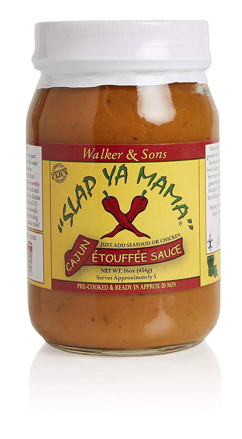 Slap Ya Mama Cajun Etoufee Sauce for Chicken or Seafood, Pre Cooked, 16 Ounce