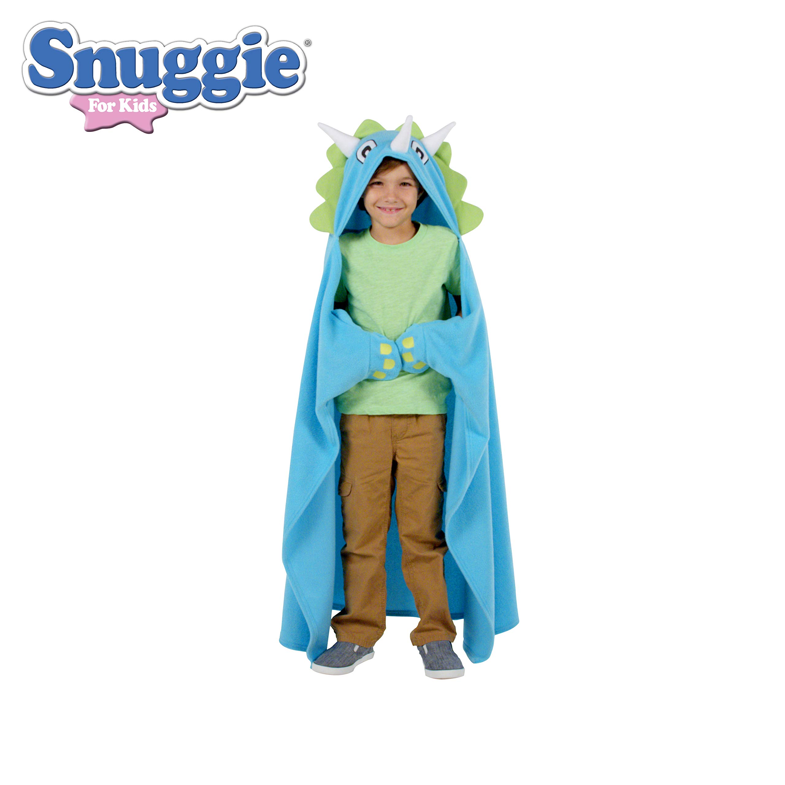 Snuggie - Kids Dinosaur Snuggie Tail Blanket with Sleeves, As Seen on TV, Blue by Snuggie