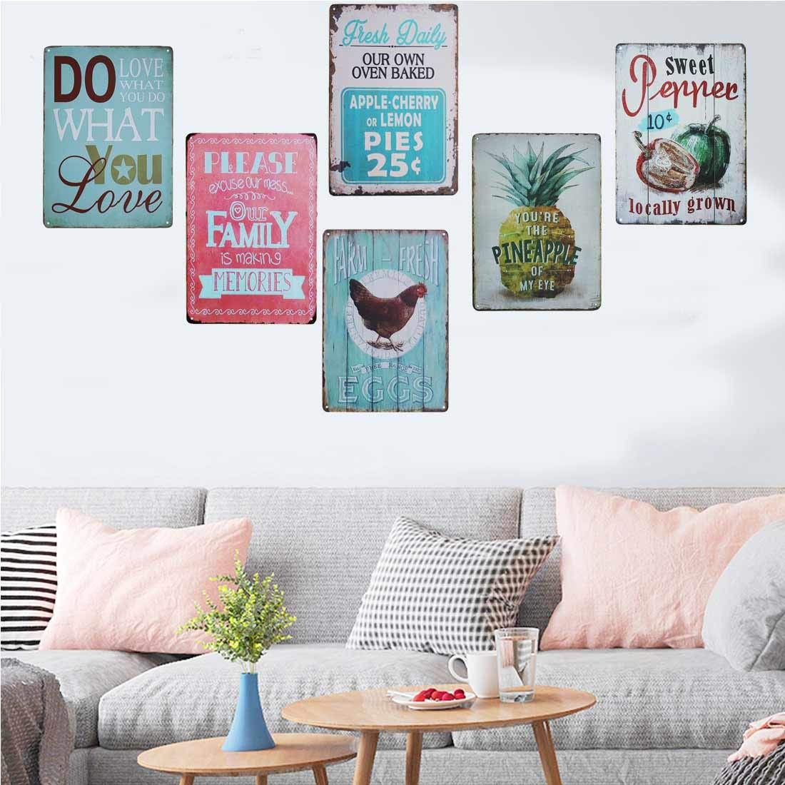 Home & Kitchen Decorative Signs TISOSO Tin Signs Designs Do What ...