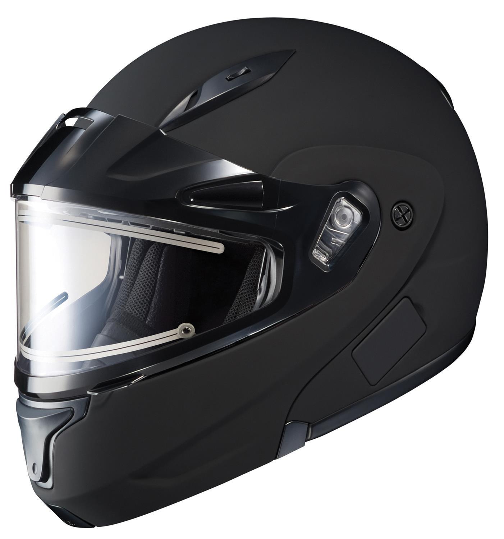 HJC CL-MAX2BTSN Modular Bluetooth Snow Helmet Framed Electric Shield (Matte Black, X-Large) by HJC Helmets