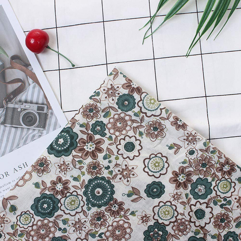 #1 Bedding Suite Set,7pcs 25x25cm Cotton Fabric Pre-Cut DIY Assorted Square Precut Quilt Dormitory Set Bedding Kit Quarters Bundle Dark Green