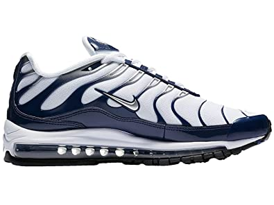 66b6ec3a5a Nike Men's Air Max 97 Wolf Grey/Metallic Silver/Midnight Navy Nylon Running  Shoes