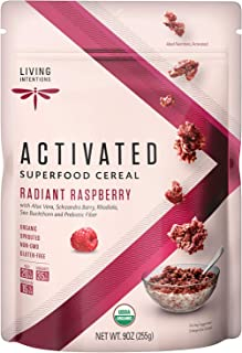 product image for Living Intentions Organic Superfood Cereal - Radiant Raspberry – NonGMO – Gluten Free – Vegan – Paleo – Kosher – 9 Oz