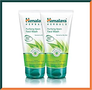 HIMALAYA HERBALS Purifying Neem Face Wash Gel 150g   Natural Moisturising Facial Cleanser   Deeply Cleans Pores and Acne   Oil Control Herbal Facial Wash (Face Wash Gel, 2-Pack SAVER)
