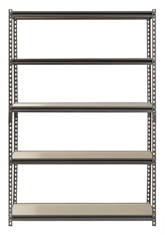 Muscle Rack UR481872PB5P-SV Silver Vein Steel Storage Rack, 5 Adjustable Shelves, 4000 lb. Capacity, 72'' Height x 48'' Width x 18'' Depth (3-Pack) with Towel Cleaner by Muscle Rack (Image #4)